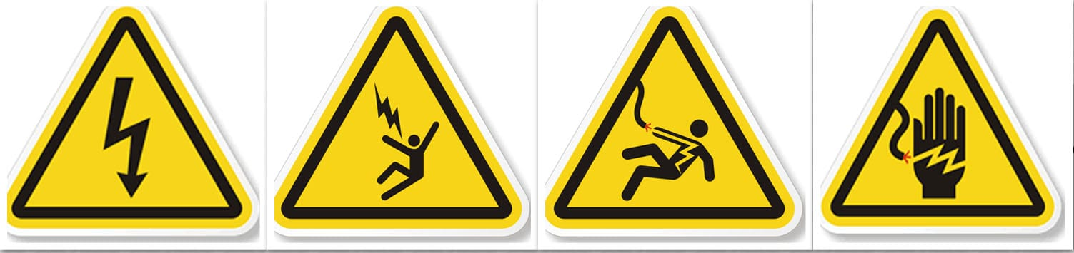 Electrical Warning Signs - Blue Crest Electric